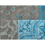 Patchwork vloerkleed Dalyan Patch Vintage Turquoise _