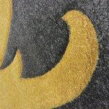 Modern vloerkleed Coridon Elude kleur oker_
