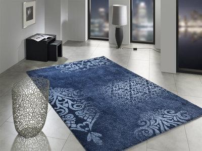 Rood Tapijt Aanbiedingen : Blauw modern tapijt nevada kopen blauwe vloerkleden tapijtenwebshop