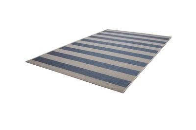 Vloerkleed Blauw Grijs : Blauw gestreept vloerkleed gestreepte tapijten en karpetten