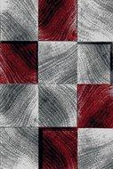 modern rood vloerkleed