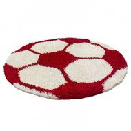 Voetbal-vloerkleed-Funny-6001-kleur-Rood